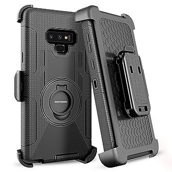 BENTOBEN Funda Samsung Galaxy Note 9, Funda Galaxy Note 9, Carcasa Combinada Case Antichoque de Kickstand + Belt Clip Resistente Anti-rasguños Funda ...
