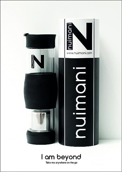 Travel Bottle Teapot Portable Water Bottle Ice Tea Fruit Infuser NUIMANI Glass Tea Infuser Tumbler Loose Tea Leak Proof