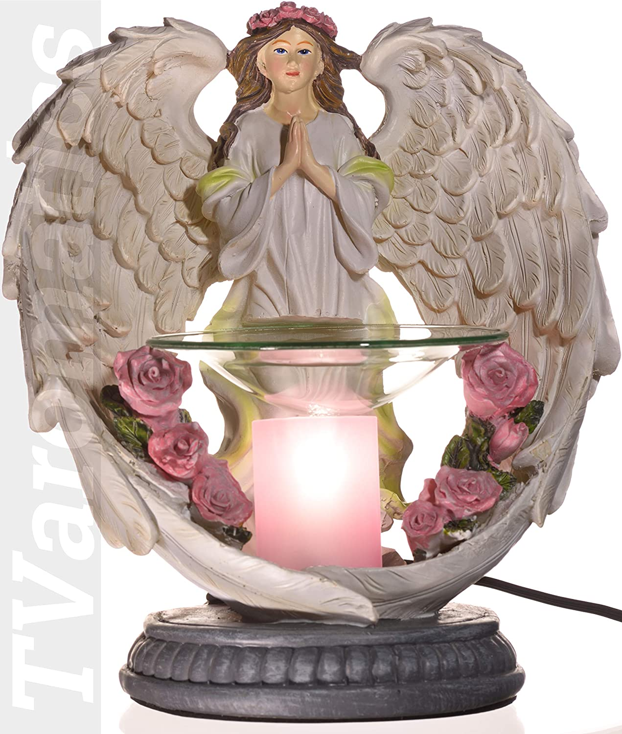 White Angel Polyresin Electric Aroma Lamp Oil and Wax Tart Warmer