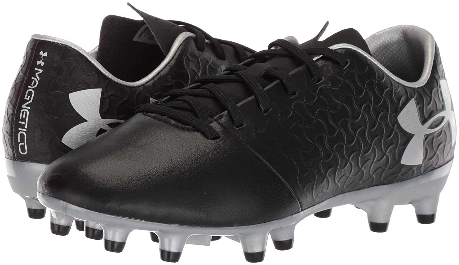 Under Armour Magnetico Select JR Firm Ground Sneaker B0728BWY3Y 6 M US Black (001)/Metallic Silver