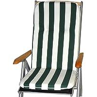 Gartenstuhl-Kissen Almohada Cojines para sillas de jardín Respaldo Alto Franja Verde…