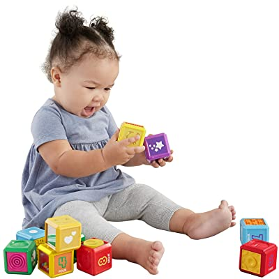 Fisher-Price Laugh & Learn First Words Number Blocks: Toys & Games