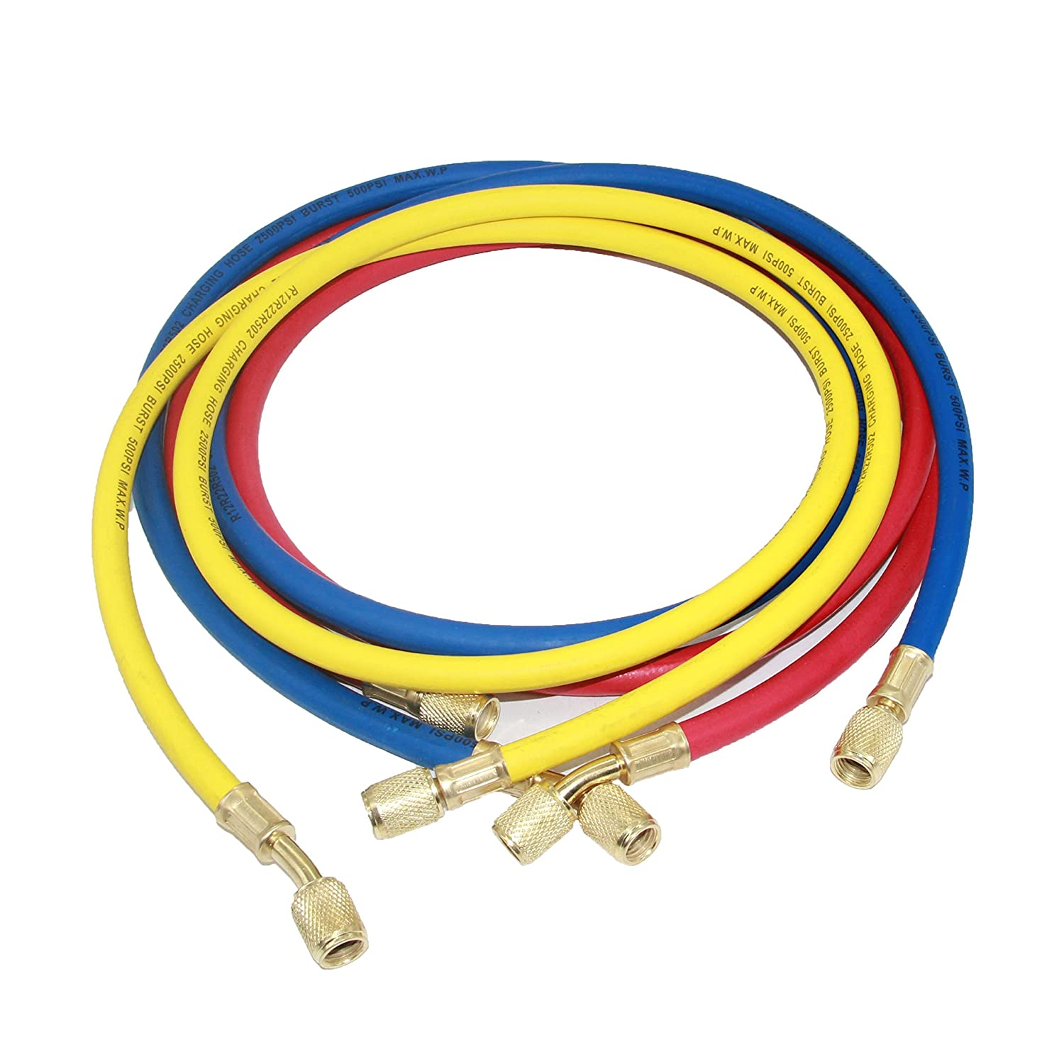 Joyway 3 color 1/4' SAE Thread Car HVAC Air Conditioning Refrigeration Charging Hose Tube R12 R22 R502 Joywayus