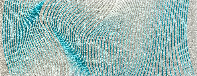 Wash+dry Matte, Polyamide, Blau, 80 x 200 cm