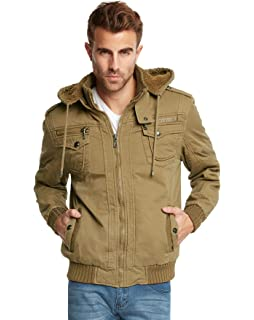 2177fc20ac5 Maximos Men s Bomber Fleece Lining Jacket Full Zip Diamond Quilted ...