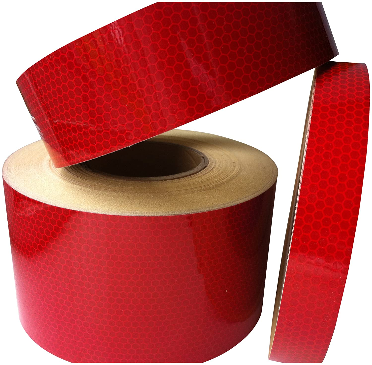 New High Intensity Reflective Tape Vinyl 50mm X 3M Roll - Red Direct Products