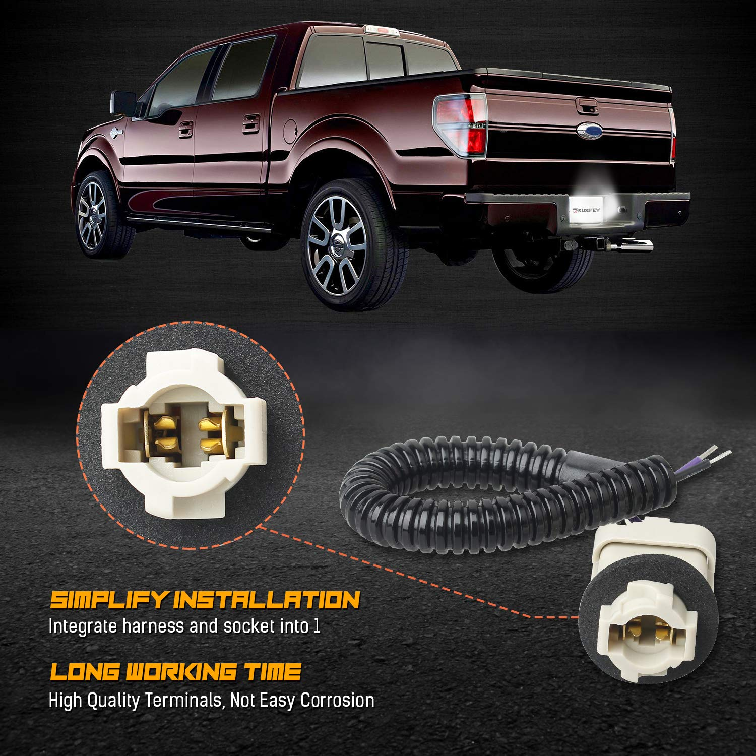 LED License Plate Light Lamp Assembly Error Free Tag Light Compatible With Ford F150 F250 F350 F450 F550 Superduty Ranger Explorer Bronco Excursion Expedition