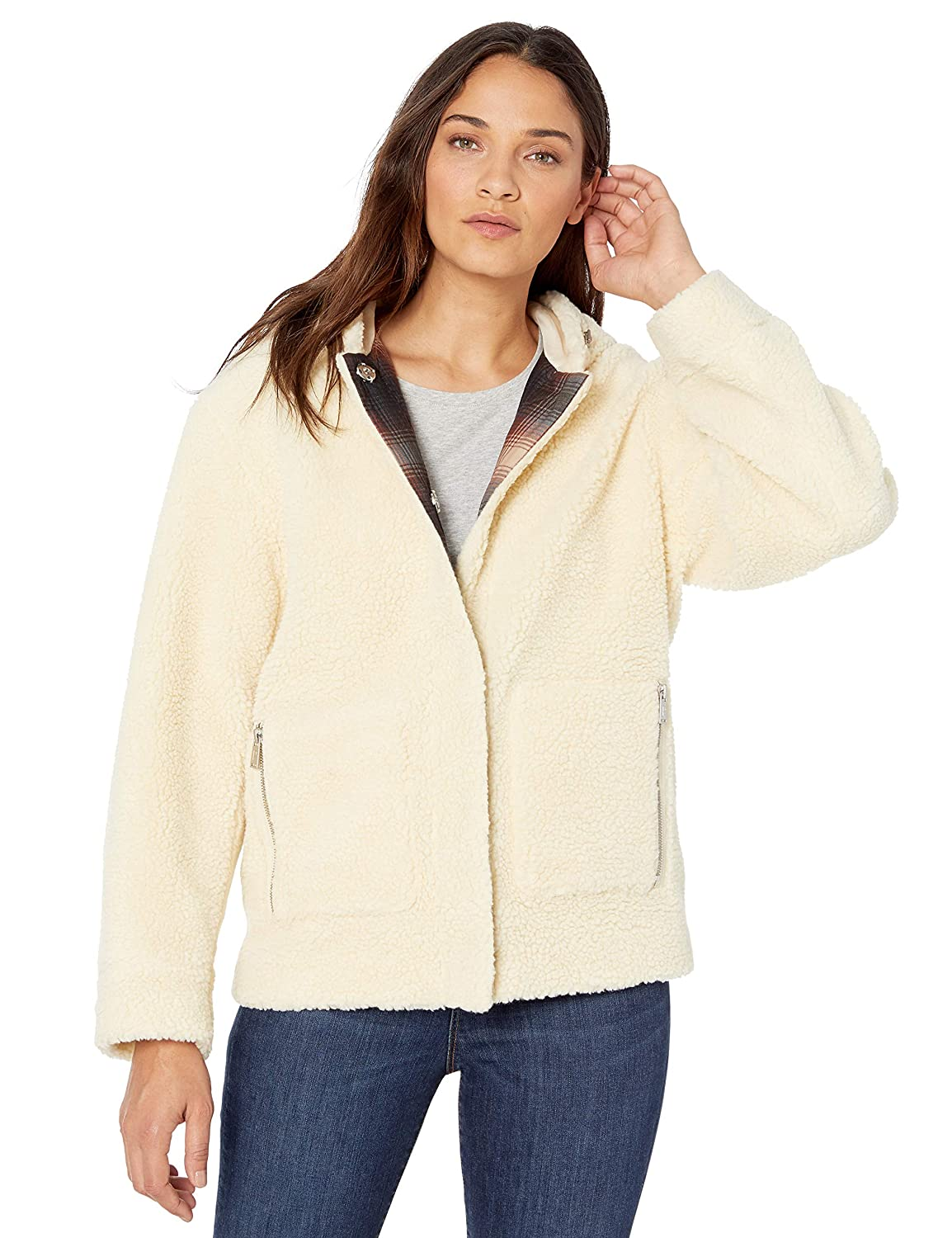Pendleton Womens Berber Fleece Hooded Jacket