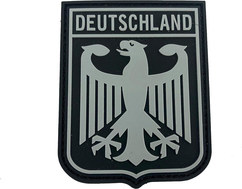 Parche Deutschland Royal Escudo de Armas Bandera de Alemania Negra Gris águila Imperial Gris PVC Paintball Airsoft: Amazon.es: Deportes y aire libre