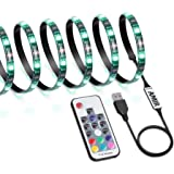 AMIR LED Strip Light, 19 Modes 20 Colors RGB Lights with Remote Control, 60 LED Changing Color Strip Kit, Accent Light Set, Bias Lighting for PC Monitor Desktop PC (2M/ 78.10in)
