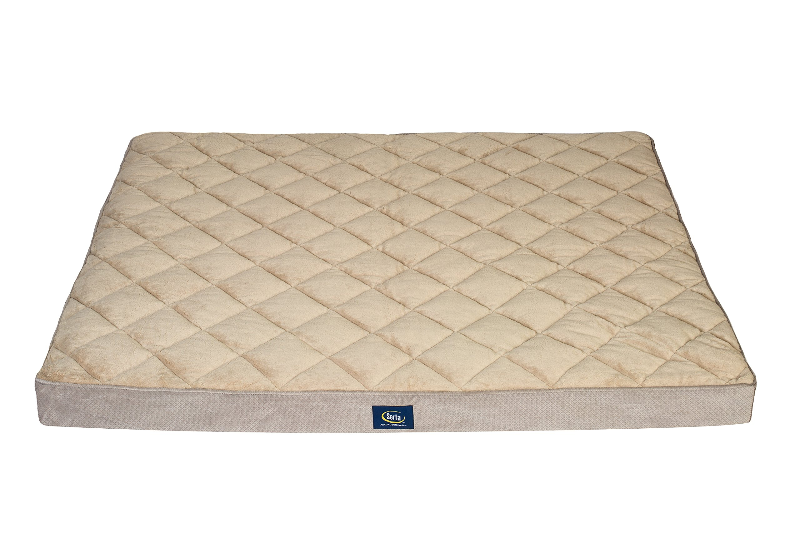 Serta Ortho Quilted Pillowtop Pet Bed, Extra Large, Grey