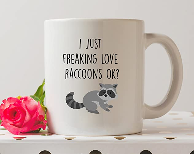 I Just Freaking Love Raccoons Ok Mug Raccoon Mug Trash Panda Mug Funny