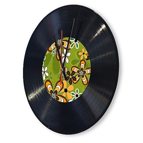 originelle Tocadiscos Reloj con diseño: hippie Flower: Amazon.es ...