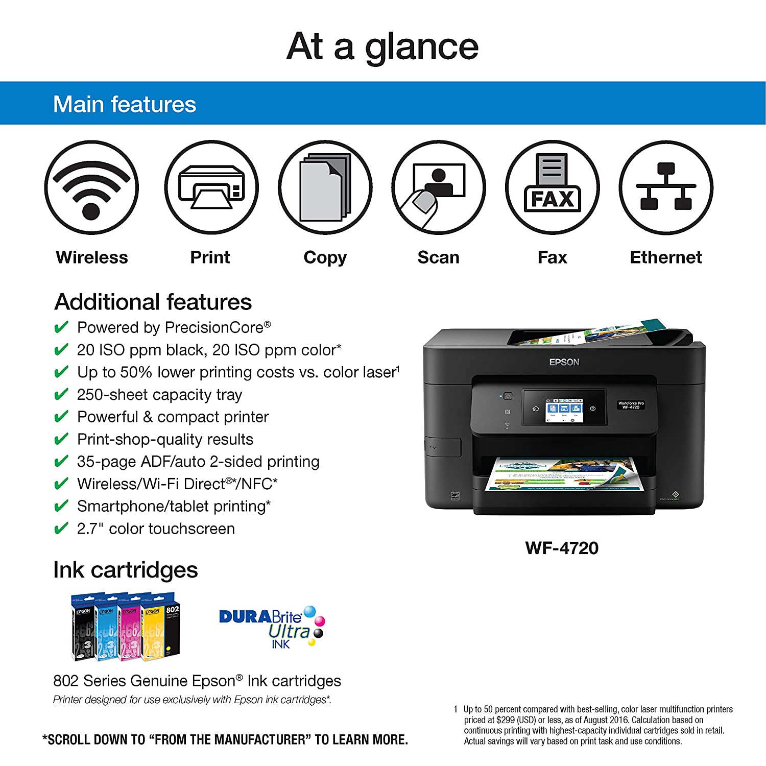 Amazon epson workforce pro wf 4720 wireless all in one color amazon epson workforce pro wf 4720 wireless all in one color inkjet printer copier scanner with wi fi direct amazon dash replenishment enabled fandeluxe Gallery