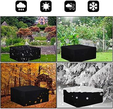 Totrawer Coperture per Mobili da Giardino Impermeabile,Copertura per Tavoli da Esterno Antipolvere 420D Oxford Poliestere 242x162x100cm,Nero