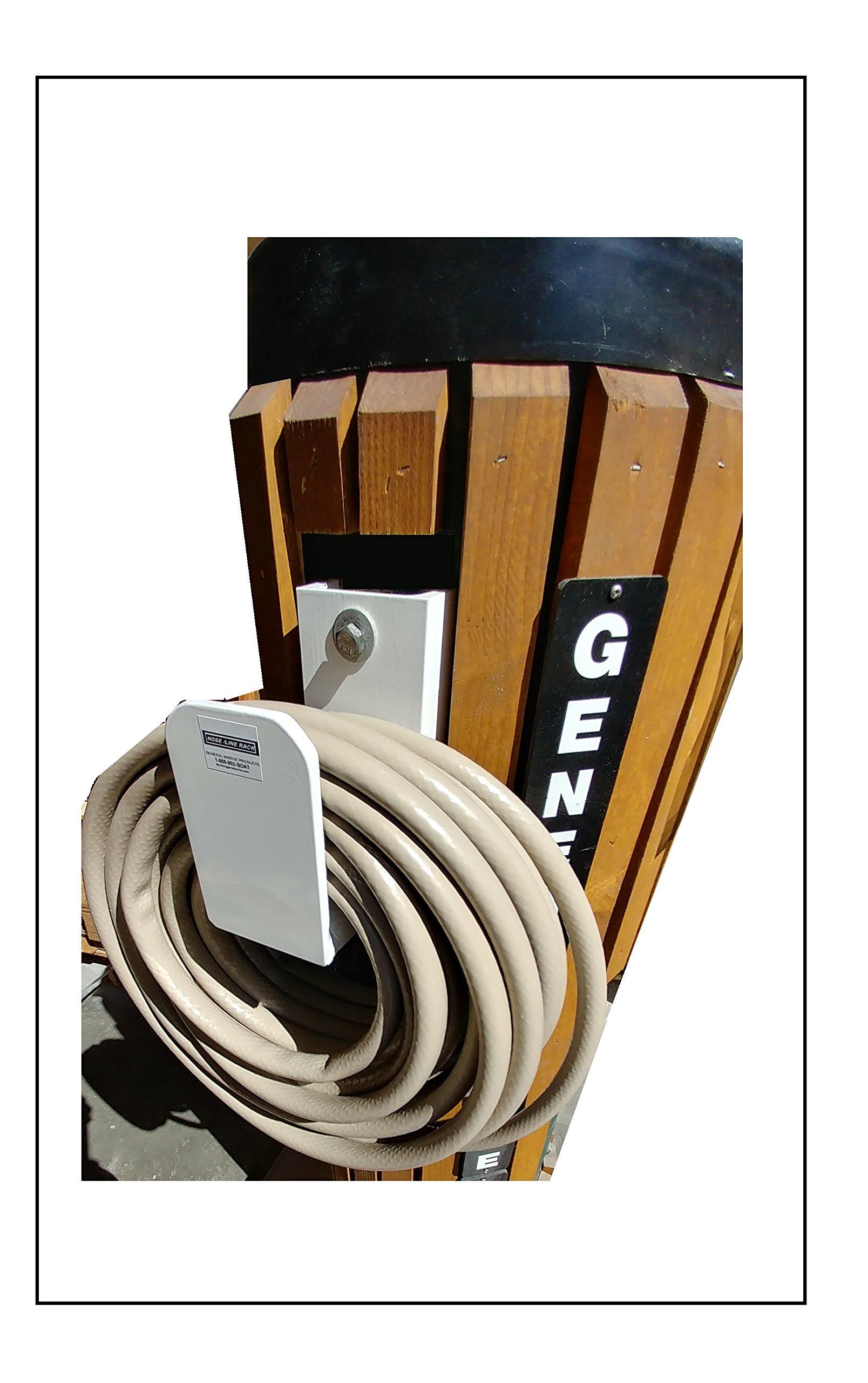 General Marine Products Hose holder wall mounted aluminum powder coated.