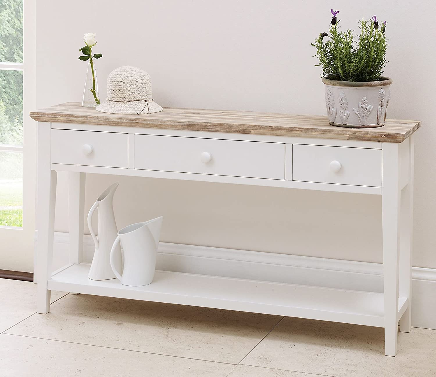 Florence Console Table White Statement Furniture