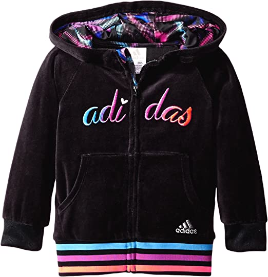 adidas Little Girls Sweatshirt and 3 stripe Jogger Track Suit size 4T 5 6