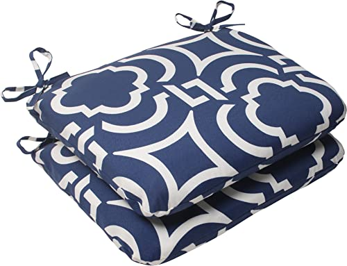 Pillow Perfect Outdoor/Indoor Carmody Navy Round Corner Seat Cushion
