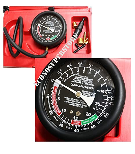 Carburetor Valve Fuel Pump Pressure /& Vacuum Tester Gauge Test Kit Car /& Truck