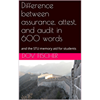 Difference between assurance, attest, and audit in 600 words: and the STU memory aid for students