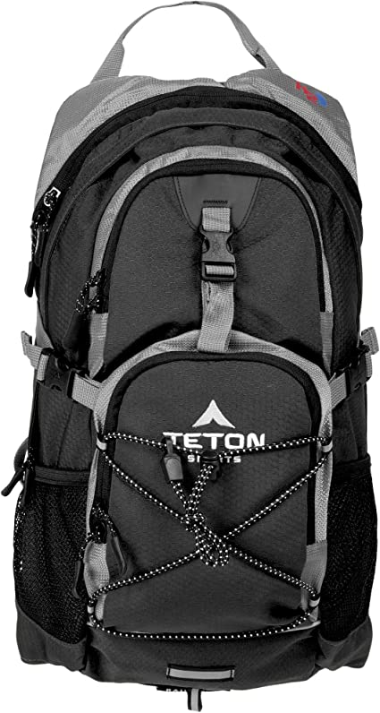 """Amazon.com : TETON Sports Oasis 1100 Hydration Pack; Free 2-Liter Hydration Bladder; For Backpacking, Hiking, Running, Cycling, and Climbing; Black, 18.5"""" x 10"""" x 7"""", Model Number: 1001B : Sports & Outdoors"""