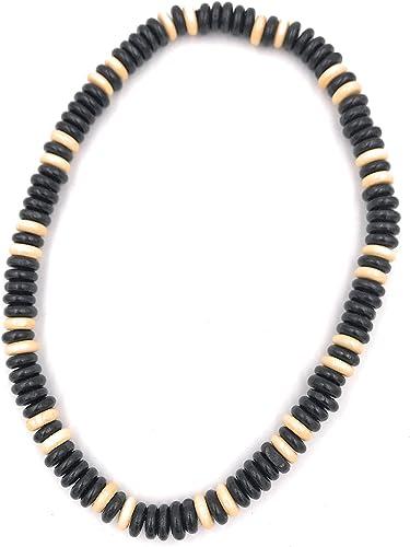 collier pour homme en bois