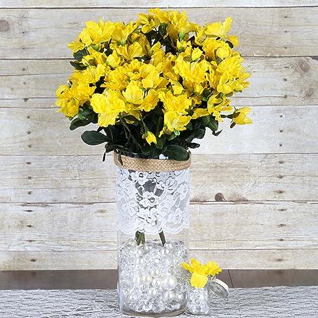 Amazon balsacircle 120 pcs silk gardenias flowers for wedding balsacircle 120 pcs silk gardenias flowers for wedding arrangements yellow mightylinksfo