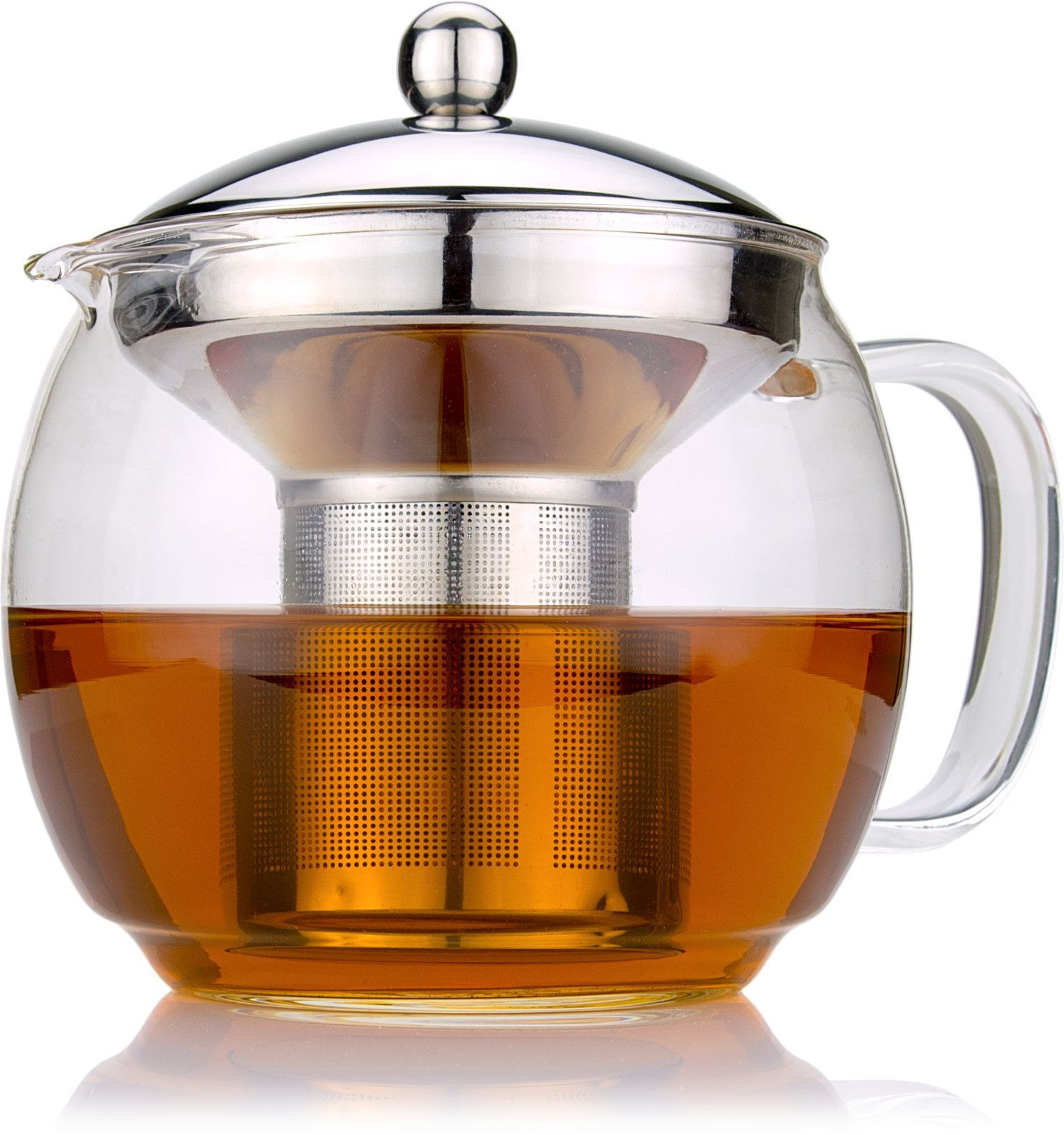 glass teapot with infuser for blooming and loose leaf tea. Black Bedroom Furniture Sets. Home Design Ideas