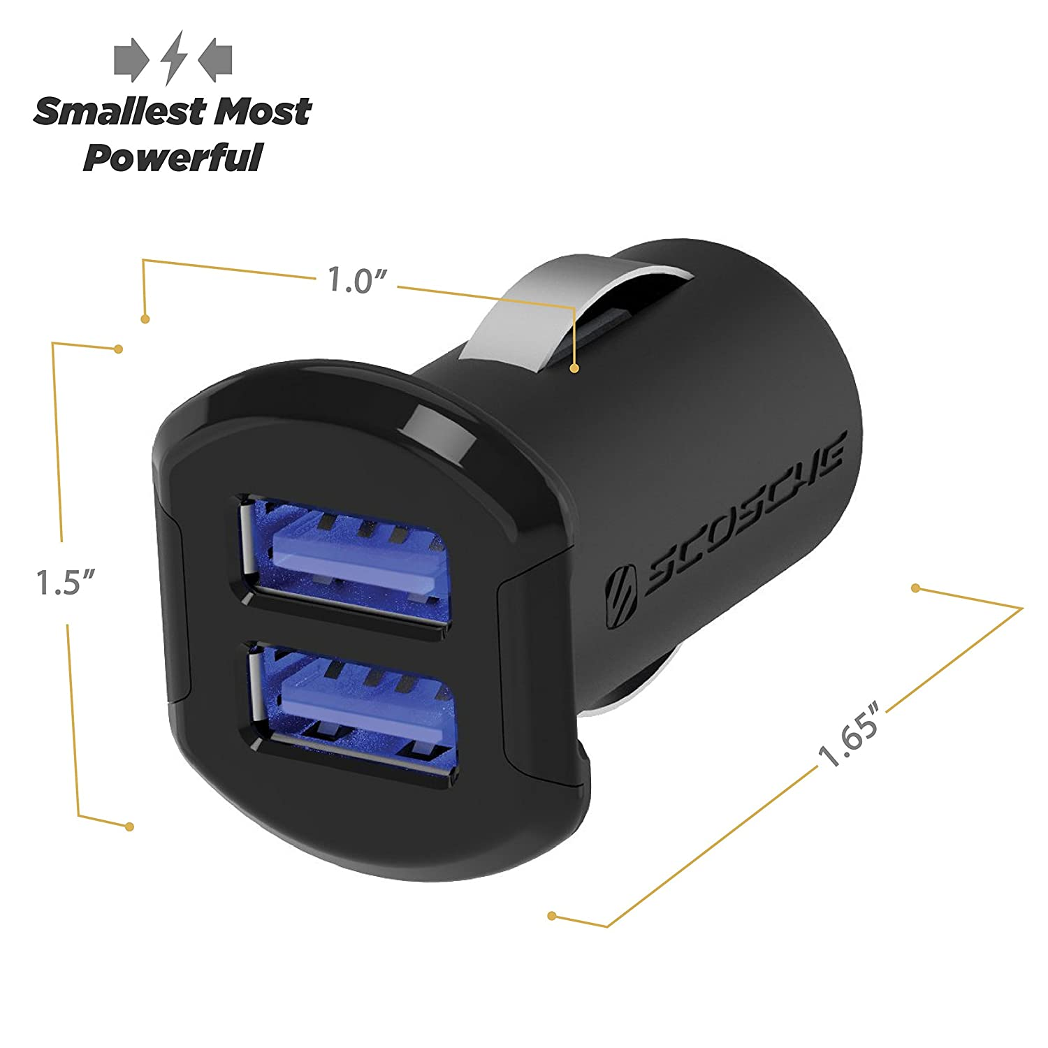 c9d9bce16c24a2 ... Port USB Fast Car Charger with Illuminated LED Backlight - 12 Watts/2.4  Amps Per Port (24W/4.8A Total Output) - High Speed Universal Multi Device  Mobile ...
