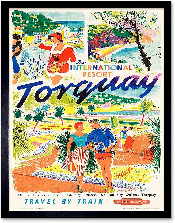 Wall art. Torquay Vintage British Rail travel Reproduction poster