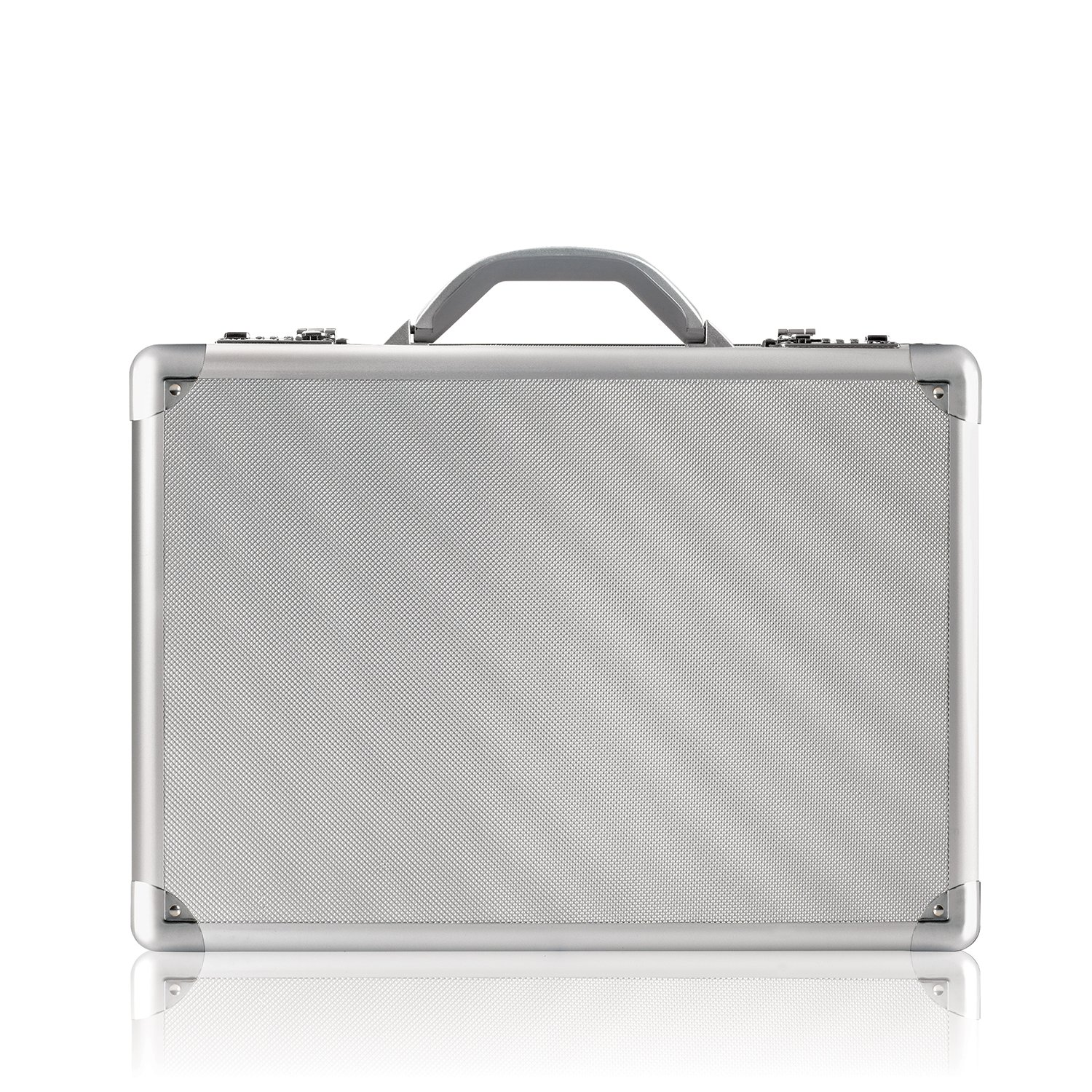 SOLO Fifth Avenue 17.3 Inch Laptop Attaché, Hard-sided with Combination Locks Silver AC100-10