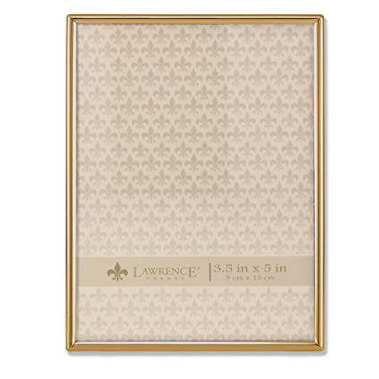 Amazon.com - Lawrence Frames 3.5 x 5 Simply Gold Metal Picture Frame -