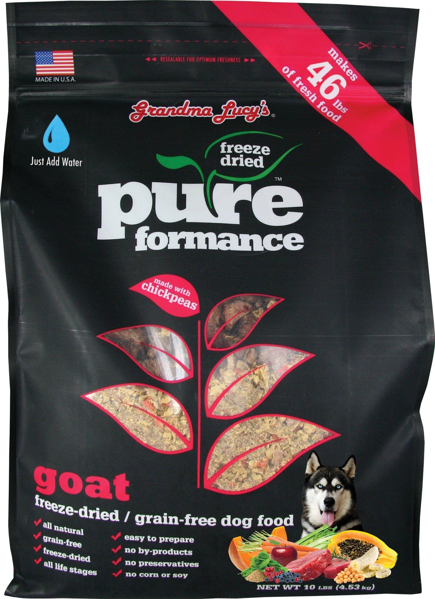 Grandma Lucy's Freeze-Dried Grain-Free Pet Food: Pureformance Goat 10lbs
