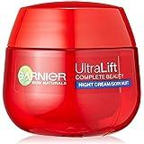 GARNIER Ultra Lift Complete Beauty straffende Anti-Falten Nachtpflege /Anti Aging Creme mildert Falten, strafft Haut (sensitive Gesichtscreme mit natürlichem Pro-Retinol, dermatologisch getestet) 1 x 50ml