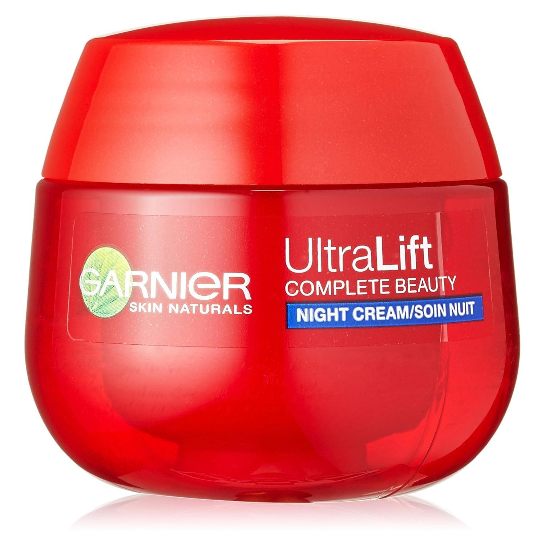 GARNIER Ultra Lift Complete Beauty straffende Anti-Falten Nachtpflege /Anti Aging Creme mildert Falten, strafft Haut (sensitive Gesichtscreme mit natürlichem Pro-Retinol, dermatologisch getestet) 1 x 50ml C4882701