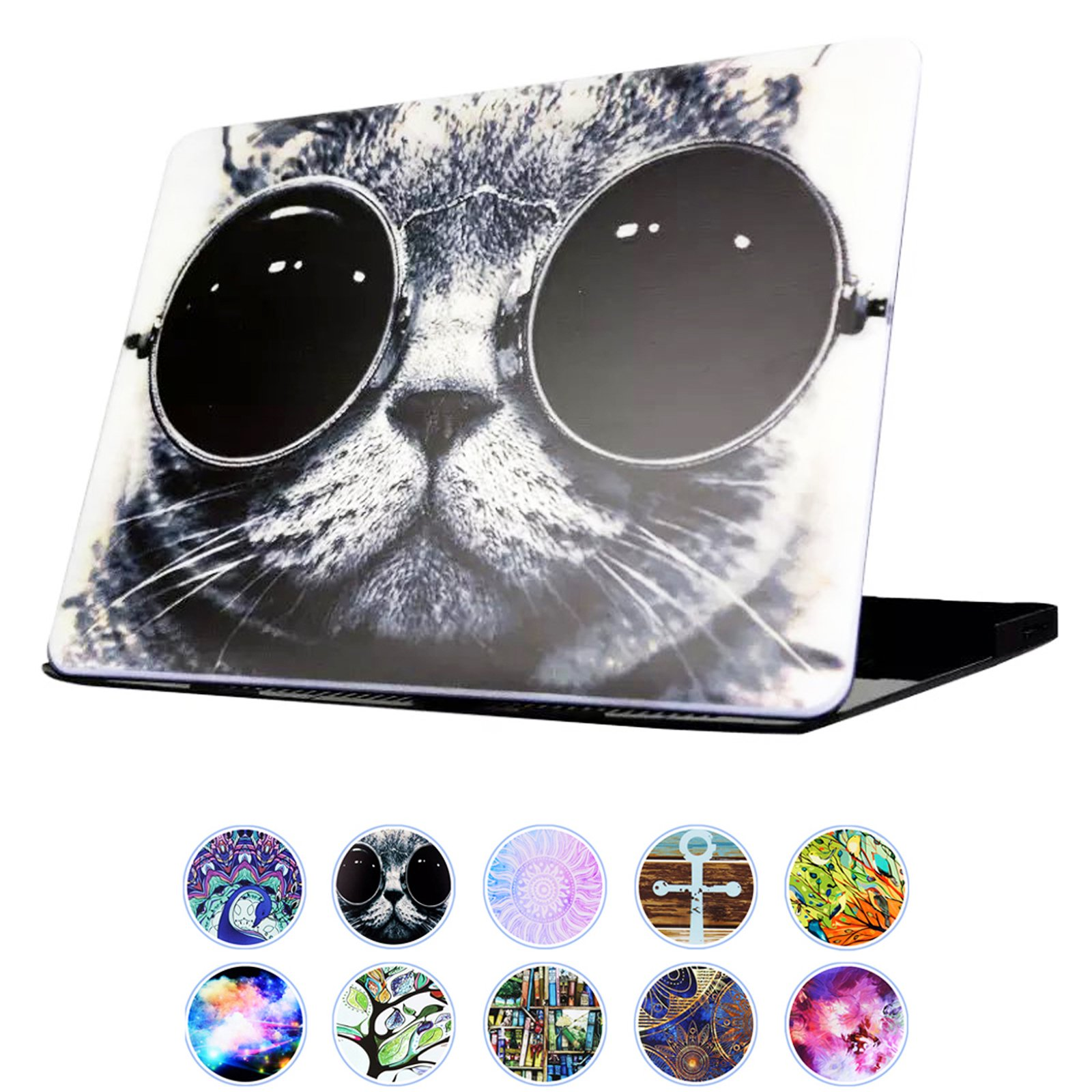 YMIX  Plastic Cover Snap on Hard Protective Case for MacBook Pro 13'' Retina NO CD-ROM (A1502 & A1425) , #Chic Cat in Sunglasses