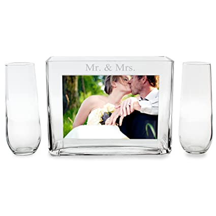 Amazon.com: Cathy\'s Concepts Mr. and Mrs. Sand Ceremony Photo Vase ...