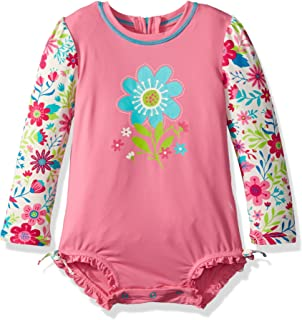 c4ae369adc471 Amazon.com  ITFABS Baby Girl Floral Lace Sunscreen Beach Dress Rash ...