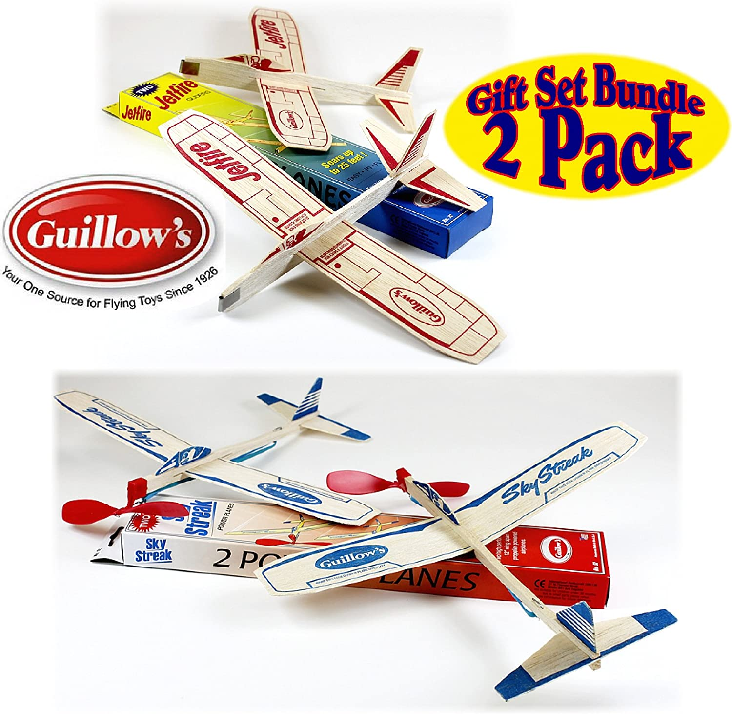 Guillows Balsa Wood Gliders Jetfire Twin Pack