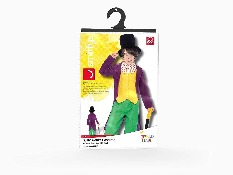 amazon com boys roald dahl willy wonka fancy dress costume clothing