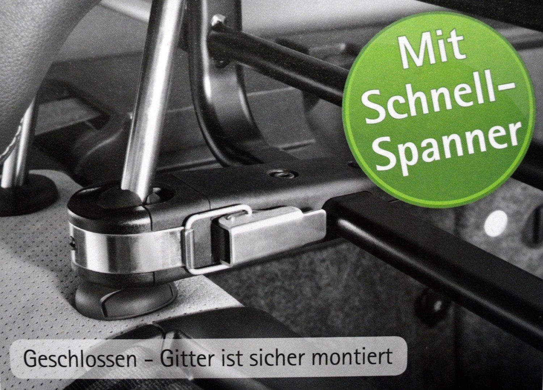 Leaf Juke Hundegitter // Trenngitter mit Schnell-Spanner Systetem Kleinmetall Roadmaster DELUXE Nissan Note Almera Tino