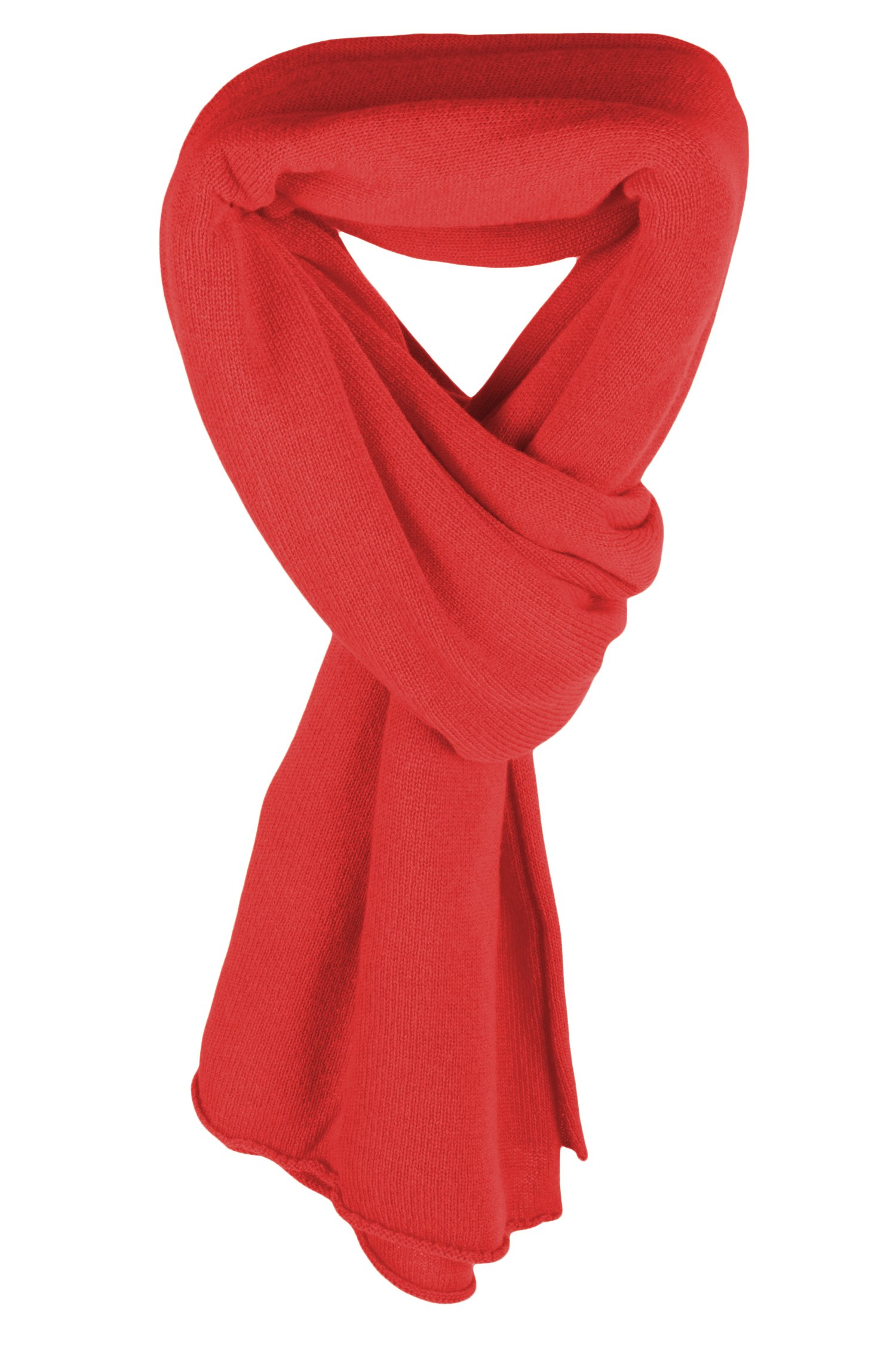 Ladies Ultrafine 100% Cashmere Scarf Wrap - Sorbet Red - made in Scotland by Love Cashmere RRP $400