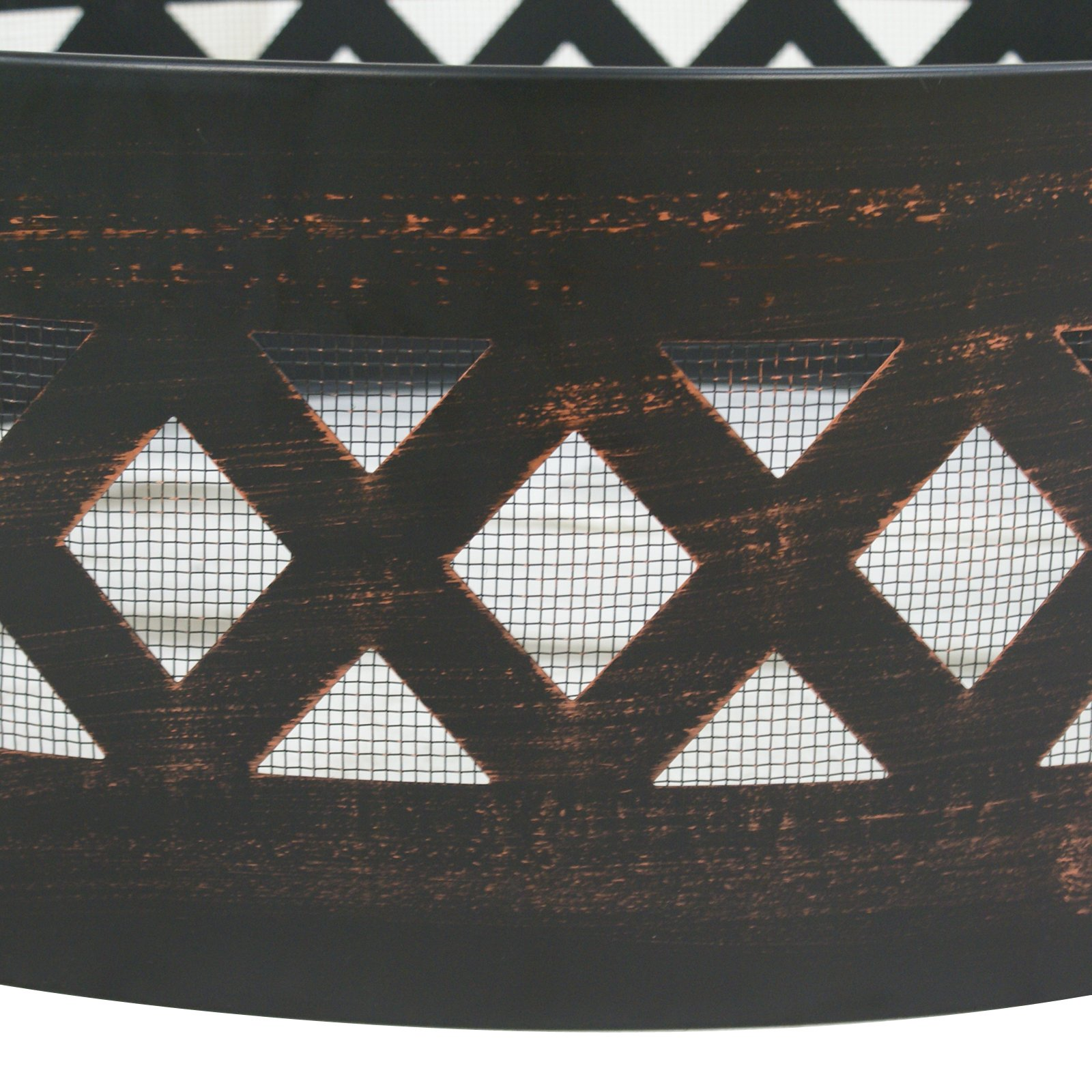 LEMY 37'' Heavy Duty Fire Ring Wilderness Fire Pit Ring Campfire Ring Steel Patio Camping Outdoors by LEMY (Image #5)