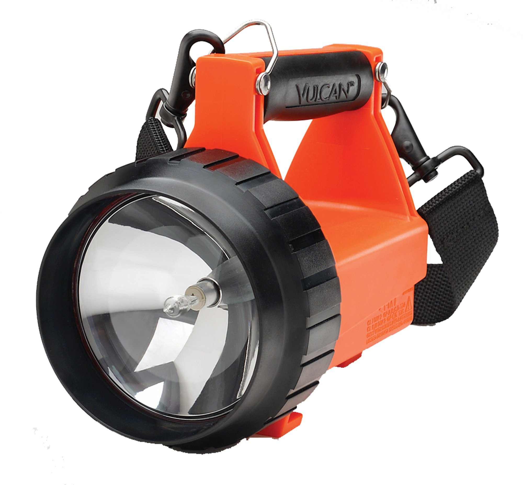 Streamlight 44411 Fire Vulcan Flashlight with Dual Rear LEDs, Quick Release Shoulder Strap and without Charger, Orange