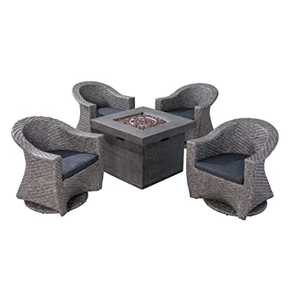 Admirable Amazon Com Great Deal Furniture Philipppa Patio Fire Pit Cjindustries Chair Design For Home Cjindustriesco
