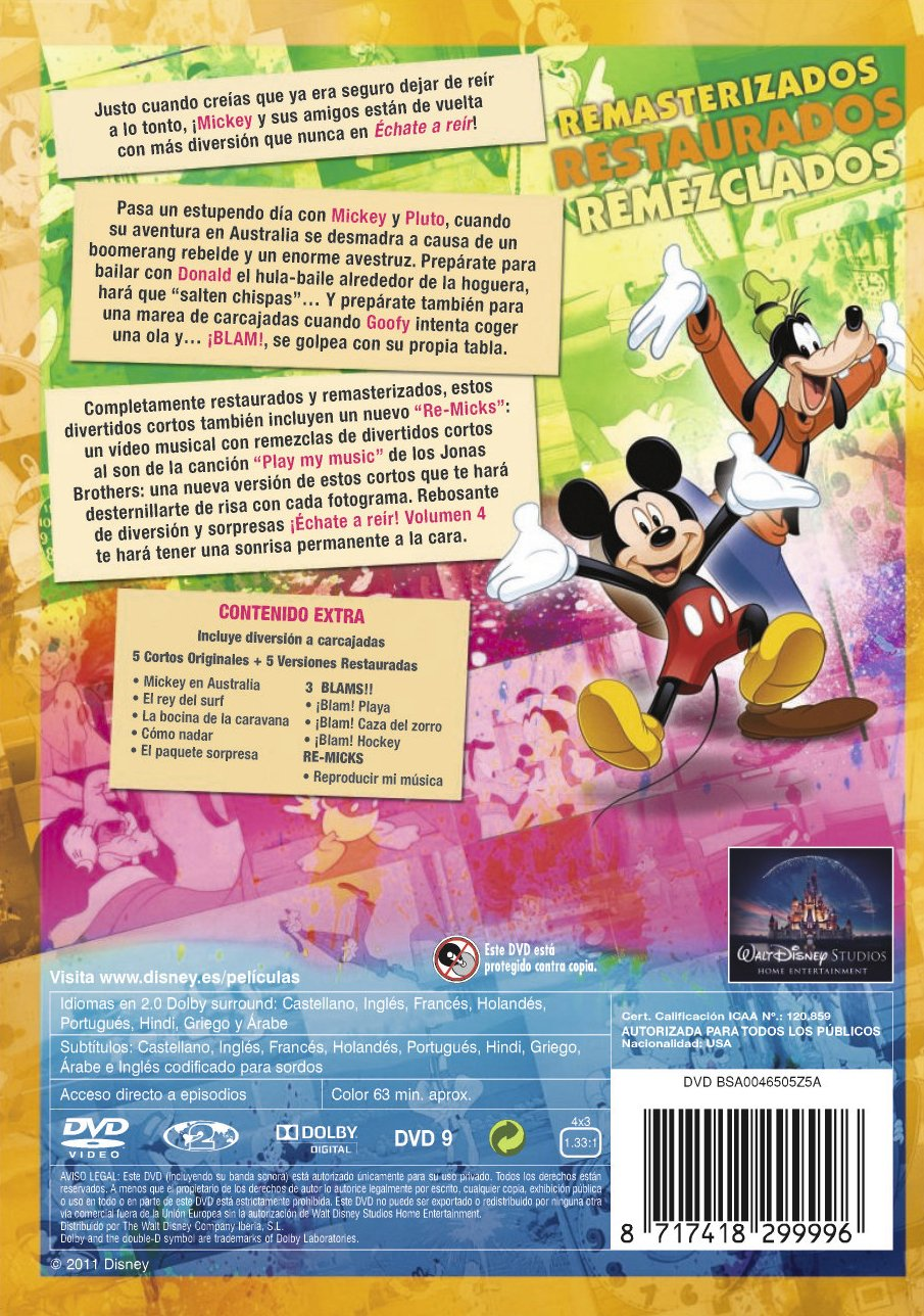 Amazon.com: Echate A Reir Con Mickey Vol 4 (Import Movie) (European Format - Zone 2) (2011) Varios: Movies & TV
