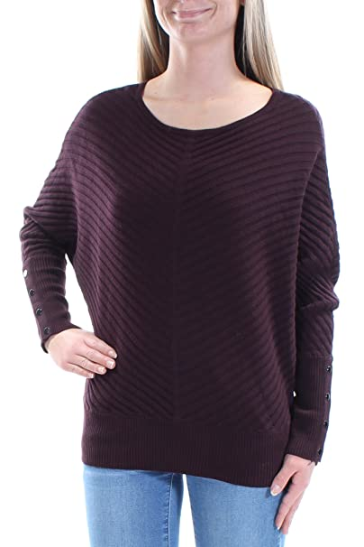 f0512709598 Alfani  59 Womens New 1133 Burgundy Textured Dolman Sleeve Sweater XS B+B  at Amazon Women s Clothing store