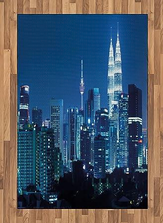 Amazon Com Ambesonne Cityscape Area Rug Kuala Lumpur