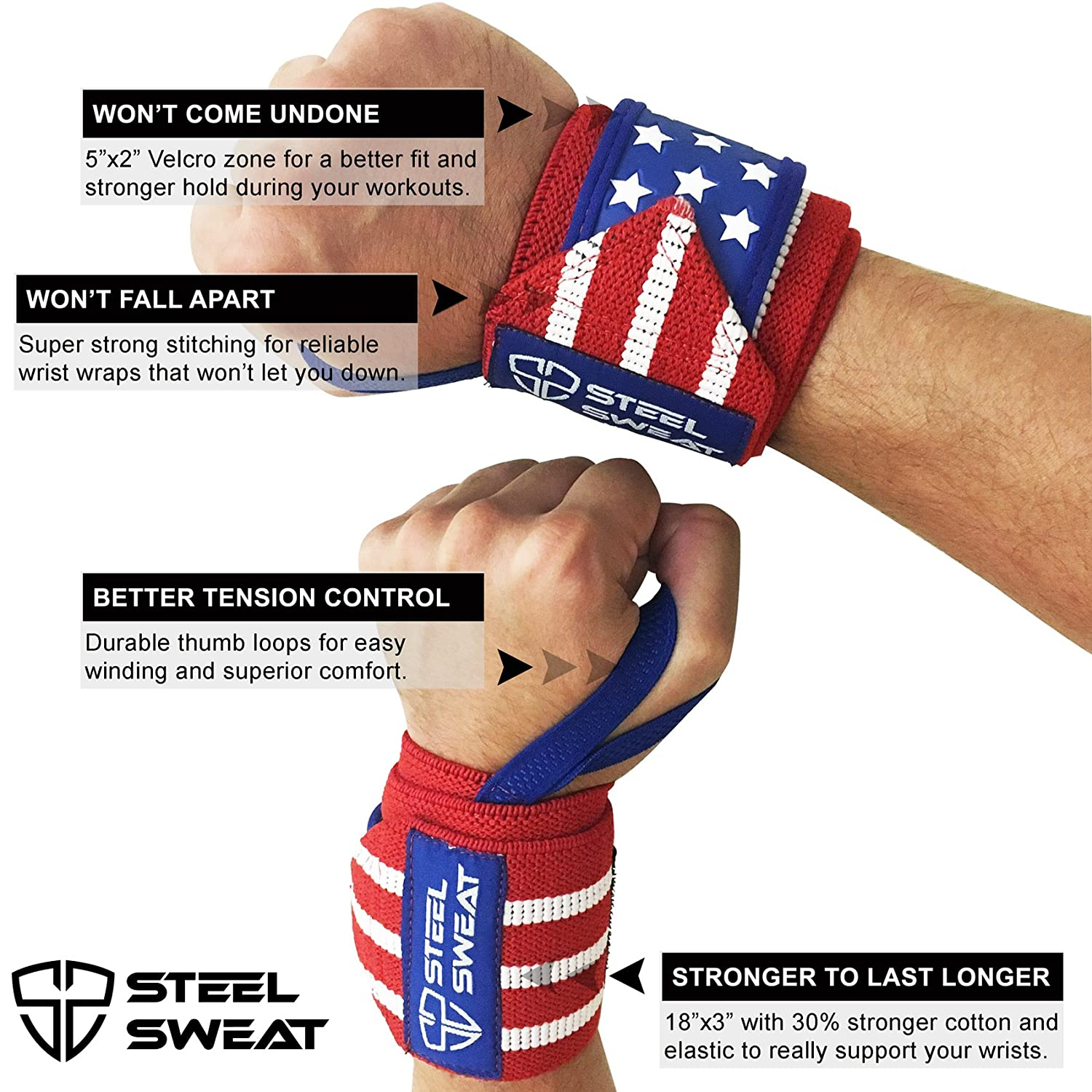 The 6 Best Wrist Supports for CrossFit in 2018 - Steel Sweat Wrist Wraps